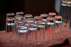 Set of glass cups Royalty Free Stock Photography