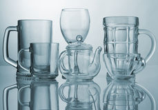 Set of glass dishes Royalty Free Stock Image
