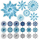 Set glass flower Stock Images