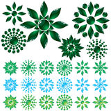 Set glass flower Royalty Free Stock Photo