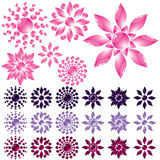 Set glass flower Royalty Free Stock Images