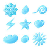 Set of glass icons Royalty Free Stock Image