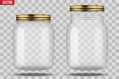 Set of Glass Jars for canning Royalty Free Stock Photo