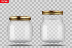 Set of Glass Jars for canning Royalty Free Stock Photos