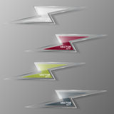 Set of glass lightning icon. Vector illustration. Royalty Free Stock Photo