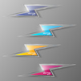 Set of glass lightning icon. Vector illustration. Stock Photo