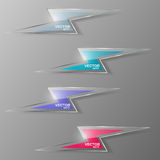 Set of glass lightning icon. Vector illustration. Royalty Free Stock Images