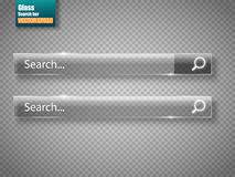 Set of glass search bars  . Vector template for websites Stock Photography