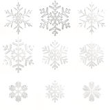 Set glass snowflakes Royalty Free Stock Photo