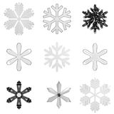 Set glass snowflakes Stock Photography