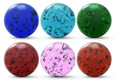 Set of glass spheres Stock Images