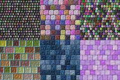 Set of glass tiles seamless generated textures Stock Photo
