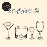 Set of glass Stock Images