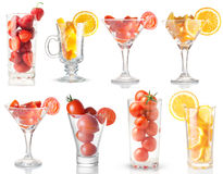 Set. glass with vitamin. Stock Photography