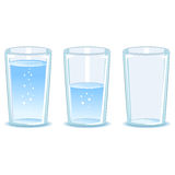 Set Glass of water Stock Images