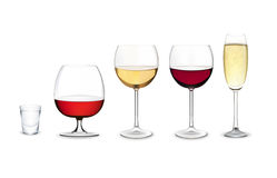 Set of glasses Royalty Free Stock Images