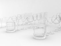 Set of glasses Royalty Free Stock Photography