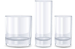 Set of glasses Stock Photography