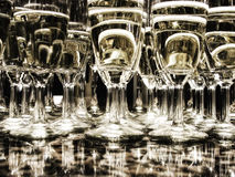 Set of glasses of champagne Stock Images