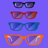 Set of glasses01 Stock Images