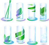 A set of glasses. With different color options Royalty Free Stock Photography