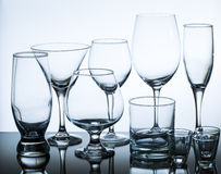 Set of glasses Stock Photos