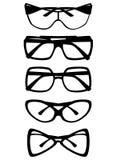 Set of glasses isolated on white background. Vector illustration Stock Image