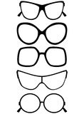 Set of glasses isolated on white background. Vector illustration Royalty Free Stock Image