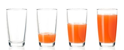 Set of glasses juice Royalty Free Stock Images