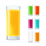 Set of glasses with juice Royalty Free Stock Photography