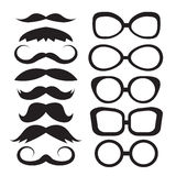 Set glasses and mustache Stock Photo