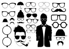 Set of glasses. And other accessory Stock Photo