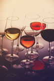 Set of glasses with wine Royalty Free Stock Images