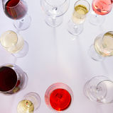 Set of glasses with wine Stock Photography