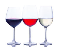 Set of glasses with wine Royalty Free Stock Photography