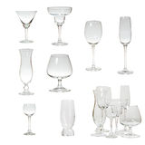 Set glassware isolated Stock Photography