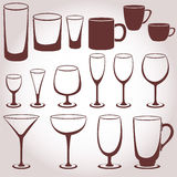 Set of glassware Stock Images