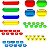 Set of glassy buttons Royalty Free Stock Photo