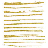 Set of glitter brush strokes. Stock Image