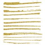 Set of glitter brush strokes. Stock Image