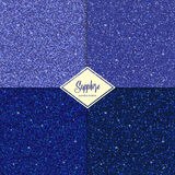 Set of glitter sapphire texture. Set of Golden sapphire texture with shine, glossy confetti, glitter background. Vector illustration seamless pattern, glamour Royalty Free Stock Image