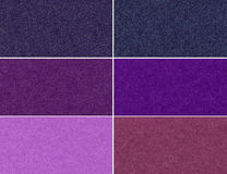 Set of glittering textures. Set of glittering violet high resolution textures and backgrounds Stock Photography