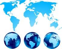 Set of globe vector illustration