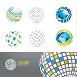 Set of globe icons Stock Photography
