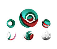 Set of globe sphere or circle logo business icons Stock Photography