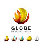 Set of globe sphere or circle logo business icons Stock Photo