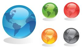 Set of globes Royalty Free Stock Photography