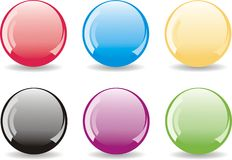 Set of glossy balls Stock Photos
