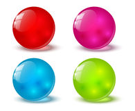 Set of glossy balls Royalty Free Stock Photos