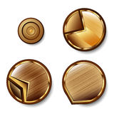 Set of the glossy brown shapes Stock Photo